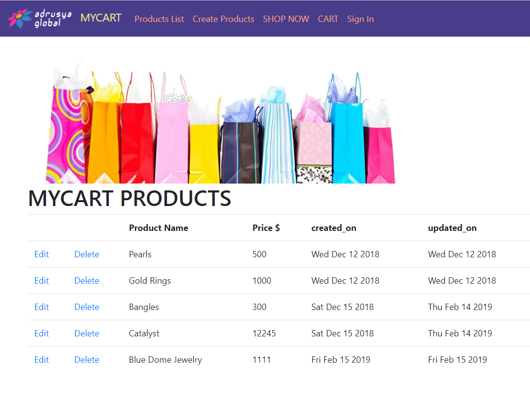 Project - Shopping Cart Web Application (Full Stack Development, NodeJS,  Mongo DB, NoSQL, TypeScript, EJS)